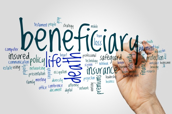 an infographic about a beneficiary. It lists the places that a beneficiary would be.